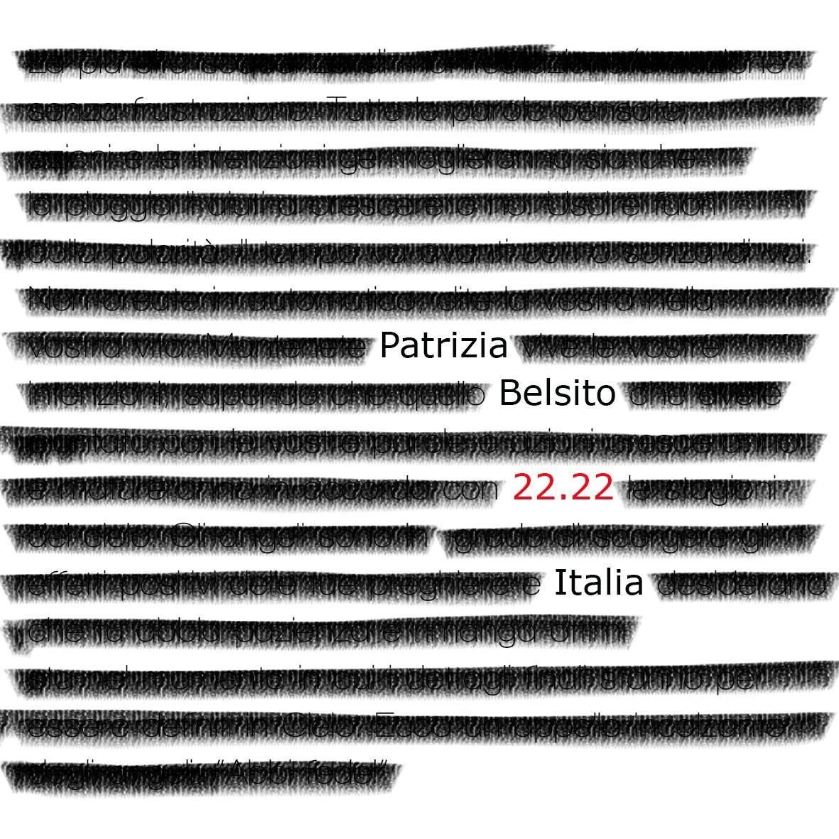 22.22 patrizia belsito